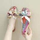 仙女拖鞋 甜美仙女風涼拖鞋女外穿2021夏季新款時尚蝴蝶結海邊平底一字拖