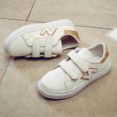 女童小白鞋新款潮韓版秋休閒兒童運動鞋中大童男童鞋子清倉鞋