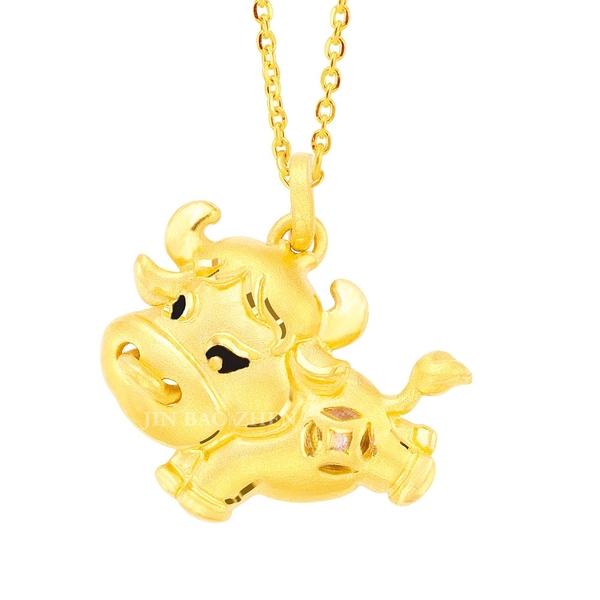 有犇頭-黃金墜子-生肖牛