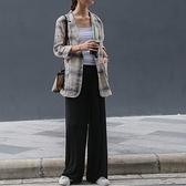 休閒長褲-高腰純色寬鬆簡約女闊腿褲2色73xh13[巴黎精品]