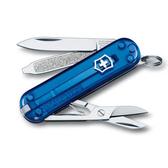 瑞士 維氏 Victorinox 經典 7用瑞士刀 透明握柄系列 0.6223.T2『透明藍』 露營│登山