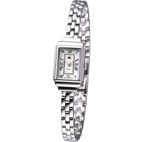Rosemont 骨董風玫瑰系列 時尚鍊錶TRS015-04銀色款