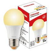 Toshiba 5W 廣角 LED燈泡 燈泡色