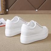 增高鞋 內增高女鞋秋季韓版厚底鬆糕鞋小白鞋學生休閒鞋 小天後
