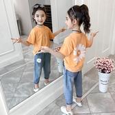 女童夏裝套裝2020新款時髦短袖兒童裝韓版網紅中大童洋氣兩件套潮 童趣屋