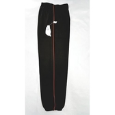 【MIT】台灣製造工作運動褲【6918-6-M】 束口褲管-黑色 側邊細紅條●夏季限定≡輕薄【 守門員】