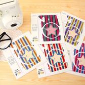 富士 拍立得 Mini 8 mini8 相機個性潮流貼紙 機身貼紙 裝飾貼紙 5色 橫條星星 (B070101)