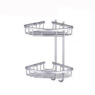 雙層太空鋁三角架 網籃帶毛巾勾HJE-L115