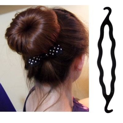 【TT82】日韓流行飾品 變型蟲 鉤盤髮器 公主丸子頭盤髮器 1個裝 出貨
