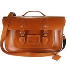 【The Leather Satchel Co.】15吋英國手工牛皮劍橋包 手提 肩背包 後背包 三用包新款磁釦設計(倫敦棕)
