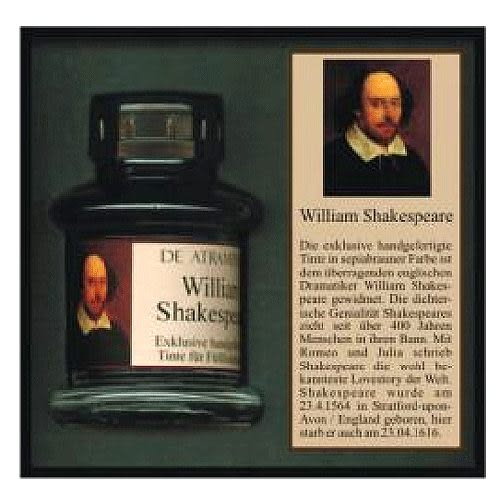 JANSEN文學家系列手工墨水(深褐色)莎士比亞_須預定*1177