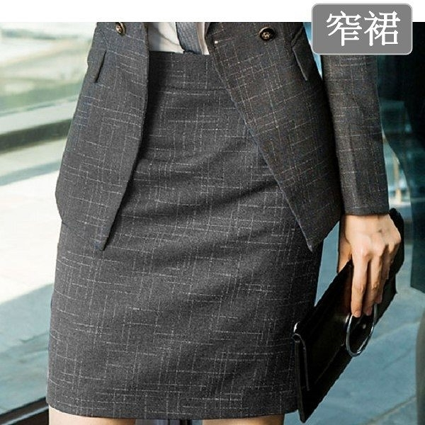 小三衣藏[8X116-PF]簡潔復古風格OL包臀窄短裙~