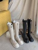 過膝長靴女秋季新款網紅時尚厚底女靴子ins潮歐美帥氣騎士靴   蘑菇街小屋