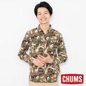 CHUMS 日本 男 印花造型襯衫 迷彩 CH021070Z018