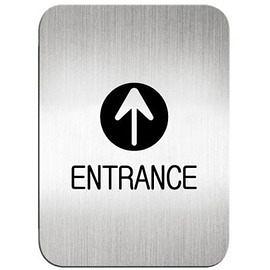 迪多Deflect-o 鋁質方形貼牌-英文ENTRANCE入口指示 612110S