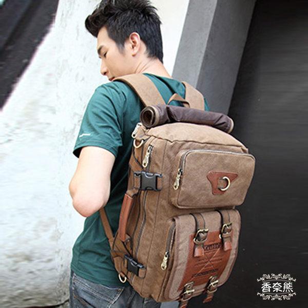 韓版多功能背包雙肩包斜跨包 NOTEBOOK筆電包 多功能包 旅行背包袋 學生書包 Nice Bear香奈熊