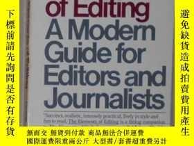 二手書博民逛書店英文原版罕見The Elements of Editing by