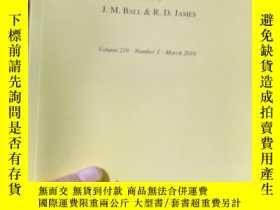 二手書博民逛書店Archive罕見for Rational Mechanics