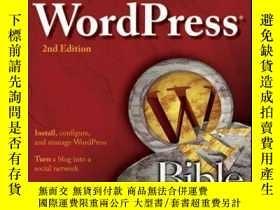 二手書博民逛書店WordPress罕見Bible, 2nd EditionY410016 Aaron Brazell ISB