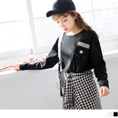《AB4726-》台灣製造星星條紋口袋上衣 OB嚴選