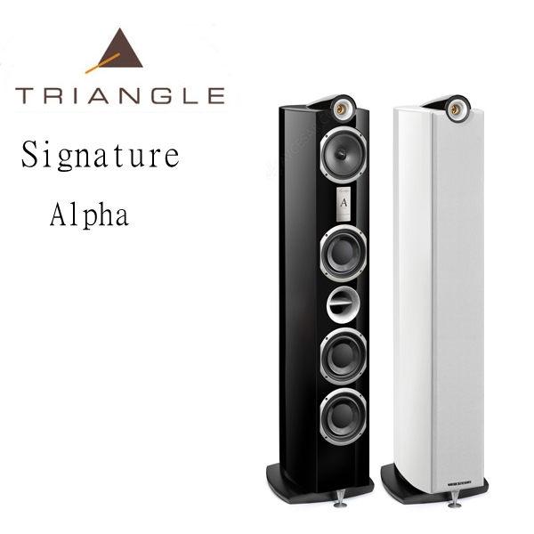 【竹北音響勝豐群】Triangle  Signature Alpha  黑色落地型喇叭(白色/桃花心木色)