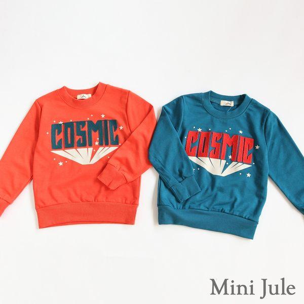 Mini Jule男童  上衣  英文字母線縫星星印花縮口長袖T恤(共2款)