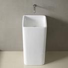 【麗室衛浴】新款 獨特造型 小空間的福利 方形立柱型面盆 C-199-3