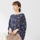 【慢。生活】夢幻花卉寬薄上衣 7661-7 FREE深藍