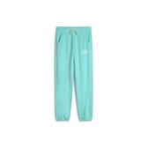 Gap女童Logo徽標棉質舒適亮色鬆緊腰休閒褲539718-冰藍色