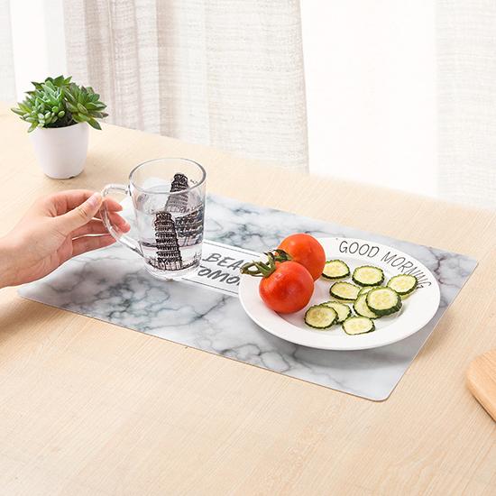 餐墊 隔熱墊 滑鼠墊 佈置 大理石 杯墊 餐桌墊 西餐墊 鍋墊 廚房 PVC 歐式印花桌墊【H012】MY COLOR