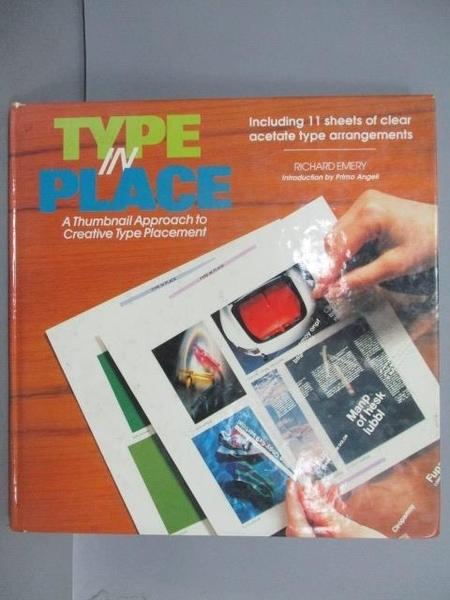 【書寶二手書T9/設計_EQZ】Type in Place