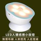磁吸人體感應燈 紅外線感應LED燈 內置充電電池免插電 家用裝飾照明