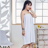浴袍 浴裙抹胸纖維浴衣套裝禮盒SPA會所熏蒸浴袍汗蒸服 創想數位