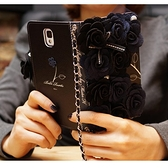 IPhone X XS Max XR 6.1吋 6.5吋 黑玫瑰皮套 手機皮套 皮套 掛繩 吊飾 手機殼 保護套