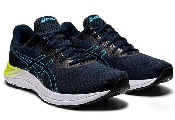 ASICS GEL-EXCITE 8 男款黑藍輕量慢跑鞋-NO.1011B036-401