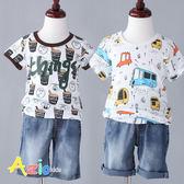 童裝 上衣 多彩眼睛汽車/咖啡小熊字母竹節棉T恤(共2款) Azio Kids 美國派 童裝