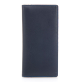 【mywalit】亮彩皮革多卡片零錢夾層直式長夾(神秘藍紫)