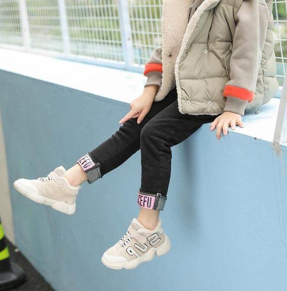 ins超火的鞋子女童運動冬季加絨新款寶寶棉鞋韓國兒童椰子休閒鞋     提拉米蘇