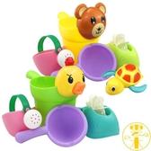 兒童洗澡玩具軟膠戲水車寶寶灑水壺套裝沙灘【雲木雜貨】