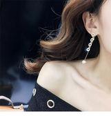 全館八折最後兩天-耳環韓國簡約百搭耳飾品個性流蘇吊墜歐美大氣耳墜長款氣質耳釘女