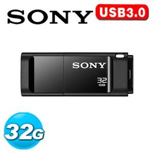 SONY USM-X 繽紛 USB 3.0 32GB 隨身碟 黑色