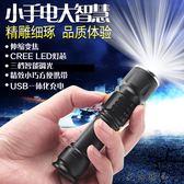 強光可充電迷你變焦遠射小手電筒