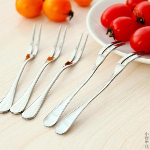 不銹鋼水果叉水果簽韓式餐具兒童吃水果的小叉子創意水果插JRM-1601