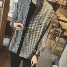 清新男款休閒格子襯衫 寬鬆文藝格子衫(M-XL)