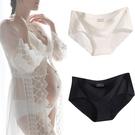 孕婦拍照寫真專用內褲冰絲無痕一片式低腰托腹黑白色大碼底褲2條 618狂歡
