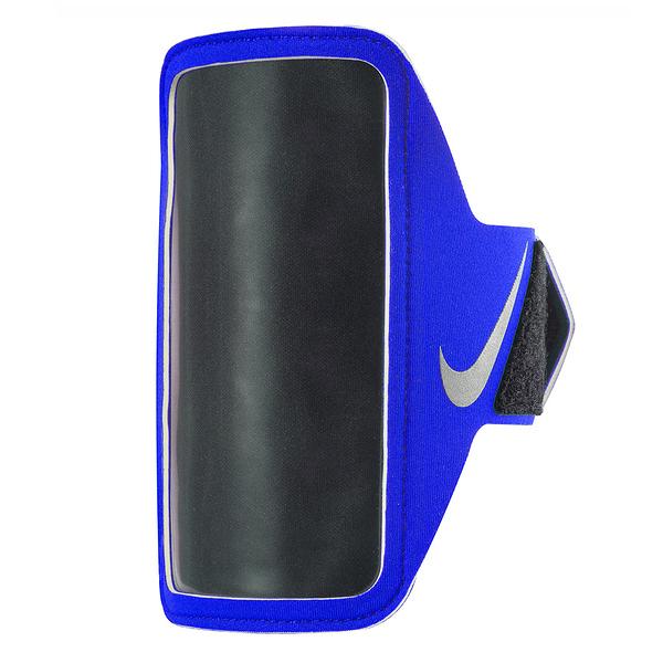 Nike Lean Arm Band [NRN65443OS] 運動 慢跑 自行車 輕量 手機 臂包 5吋 藍 銀