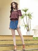 春裝上市[H2O]可露肩兩穿棉質刺繡布腰部鬆緊帶上衣 - 黑/白/莓紅色 #9685010