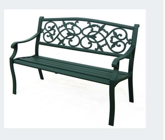 【南洋風休閒傢俱】公園桌椅系列 - 4.3尺鋁條公園椅 鋁合金公園椅 騎樓等待椅 戶外公園椅(A34L67V)