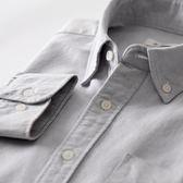 夏季男士休閒修身純棉牛津紡牛仔打底襯衫長袖韓版青年白襯衣寸衣   圖拉斯3C百貨