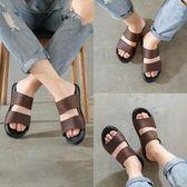 拖鞋男士2019新款夏季室外真皮涼鞋時尚外穿潮流韓版個性沙灘涼拖